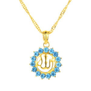 Image 1 - Арабские женщины, мусульманский религиозный Бог, Бог, стразы, камень на день рождения, ожерелье, ювелирные изделия
