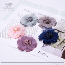 20pcs/lot Korean Artificial flowers patches for clothing DIY sew on floral parches Embroidery fabric flower dresses bag hats
