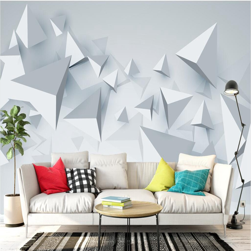 Custom Photo Wallpaper for Walls 3D Wall Mural Stereoscopic Geometric Wall Paper for Living Room TV Background 3D Wallpaper Roll wdbh custom mural 3d photo wallpaper gym sexy black and white photo tv background wall 3d wall murals wallpaper for living room