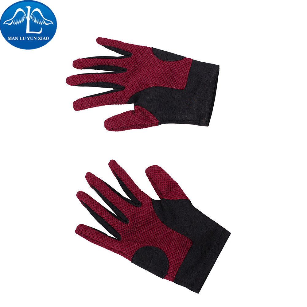 MANLUYUNXIAO New Arrival Men The Flash Gloves Halloween Cosplay Costume For Adult Wholesale