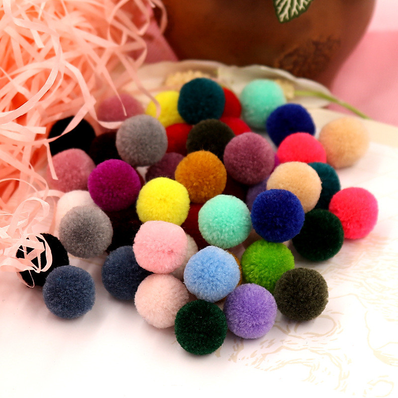 200pc 15mm Colorful Round Wool Felt Balls Pom <font><b>Poms</b></font> For Diy Girls Room Party Supplies Wedding Decoration Wool Felt Ball Accessori
