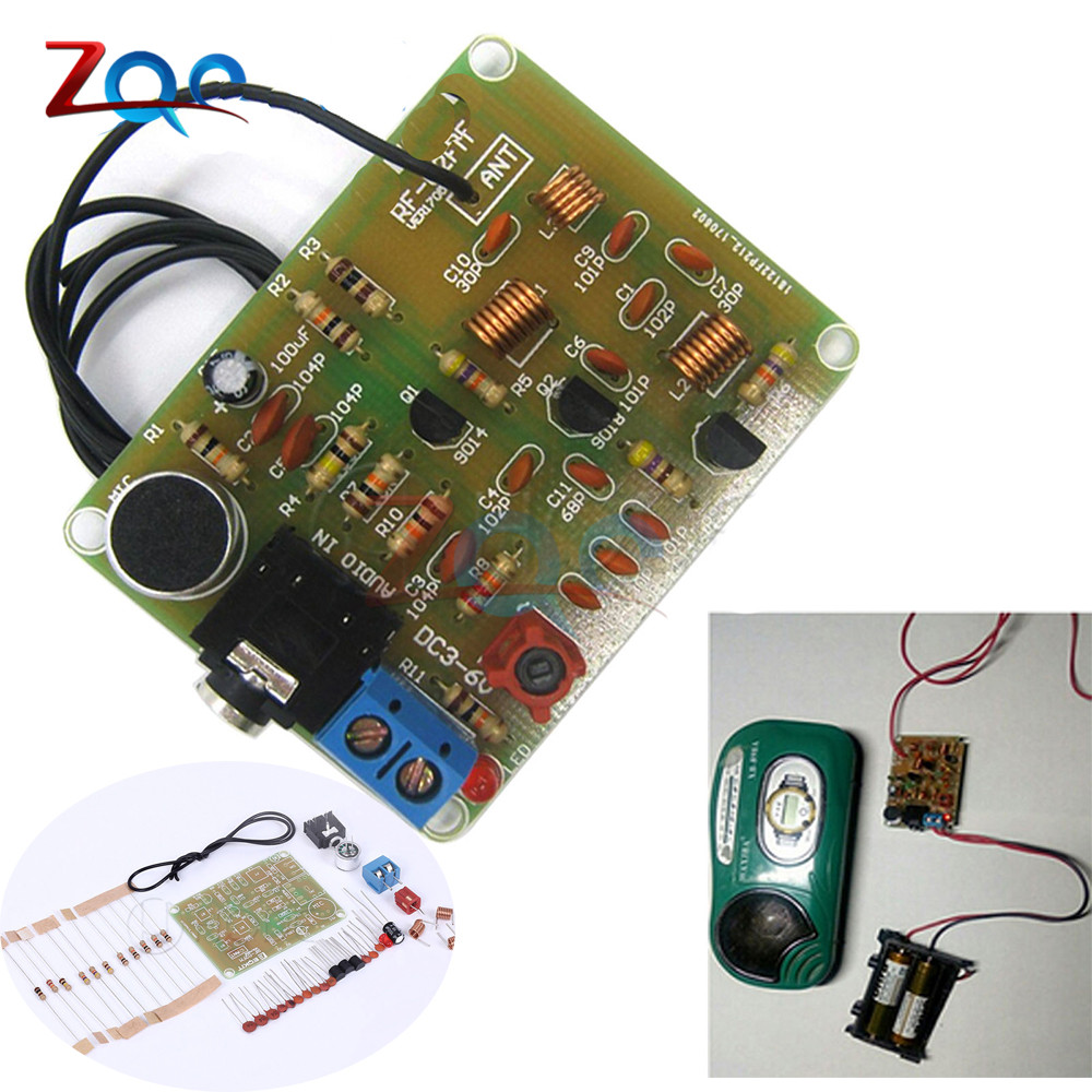 88 108mhz Fm Frequency Modulation Wireless Microphone Module Diy Making Transmitter 04 W Kits Board Parts Dc 3 6v In Instrument