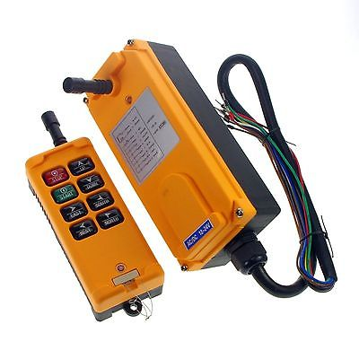 12/24V 36V 48V 110V 220V 380V AC 3 Motions 1 Speed Hoist Rigging Truck Winches Radio Remote Control System