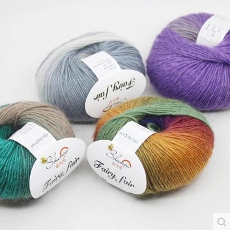 Hot List Produkt 500g Wollgarn Regenbogen Farbe Reiner Wolle Gefärbt ...