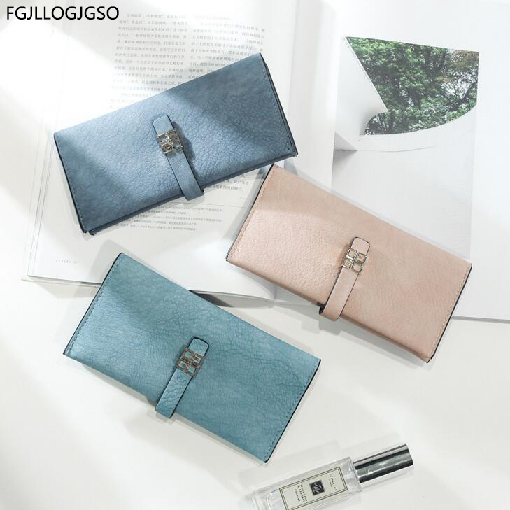 Women Large capacity wallet Europea fashion long leather wallet female Multi-card bit coin purse for lady good quality money bag