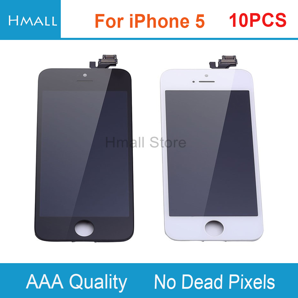 10 PCS For iPhone 5 iPhone5 5G LCD Display with Touch Screen Digitizer Assembly Replacement Grade AAA No Dead Pixels DHL Free