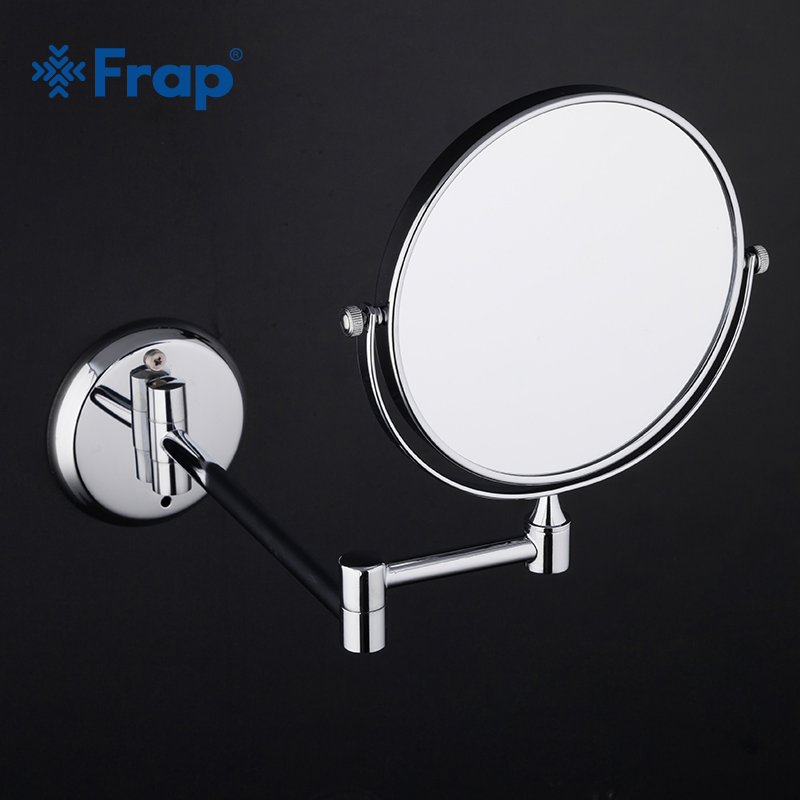 Us 17 51 50 Off Frap Bath Mirrors Make Up Magnification Modern Bathroom With Extend Arm Wall Mounted Chrome Accessories In