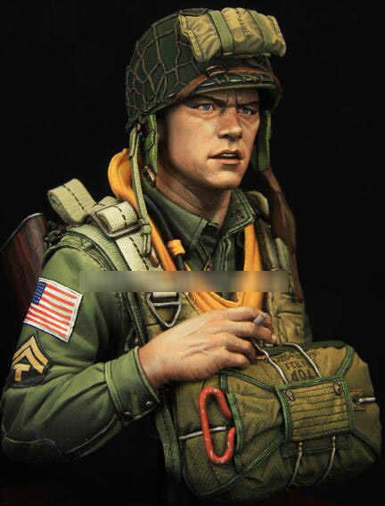 1/10 الراتنج تمثال نصفي جديد الجيش الأمريكي لا تجميعها بغير لون