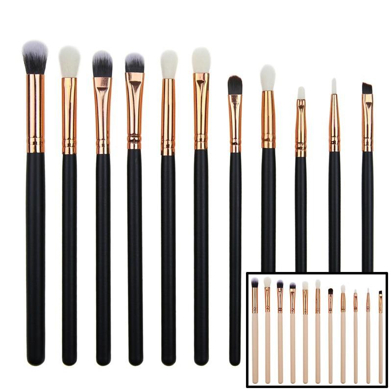 30set/lot 12pcs Makeup Brushes Pro Cosmetic Set Black Pink Wood Handle Synthetic Hair fc32003 portable 32 in 1 cosmetic makeup brushes set black