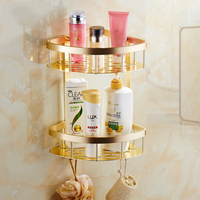 Aluminum Alloy Bathroom Accessories Set Gold Crystal Hardware Wall Mounted Ceramic Base Bathroom Accessories Products