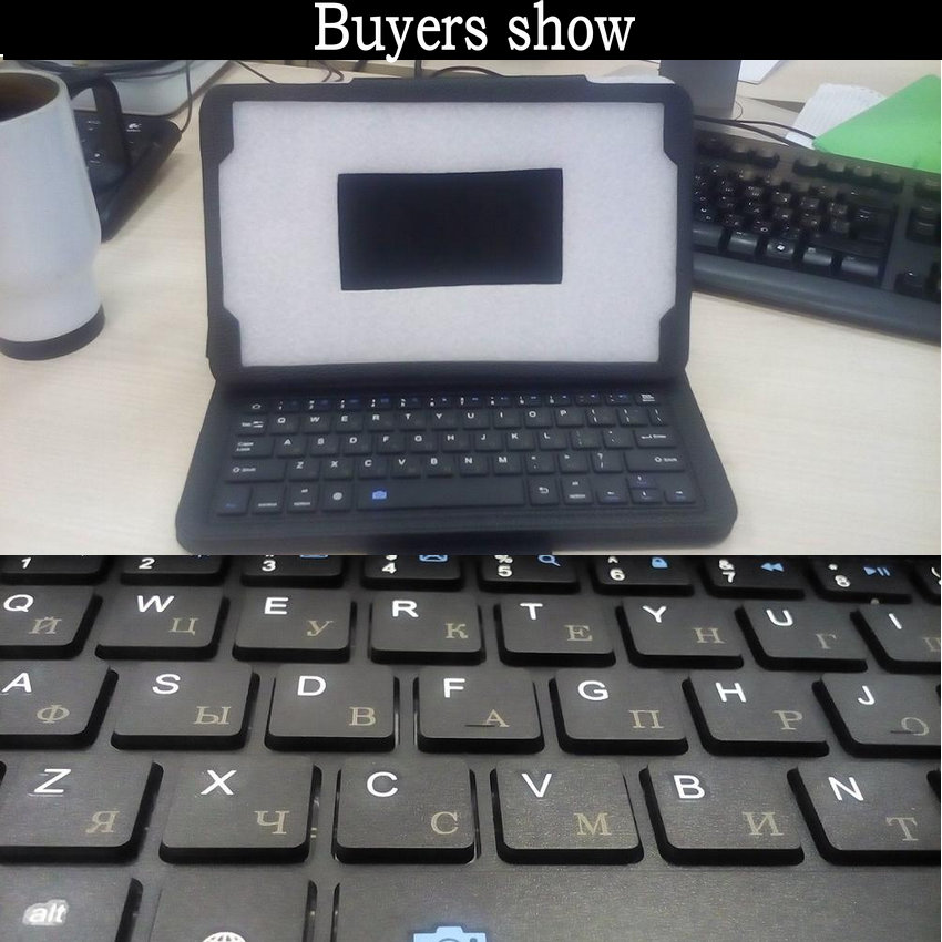 Teclado Bluetooth Funda de tableta para Samsung Galaxy Tab A 10.1 - Periféricos de la computadora - foto 2