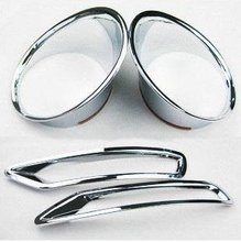 Chrome Front & rear Fog Light Lamp cover Trims For Subaru Forester 2009 2010 2011 2012
