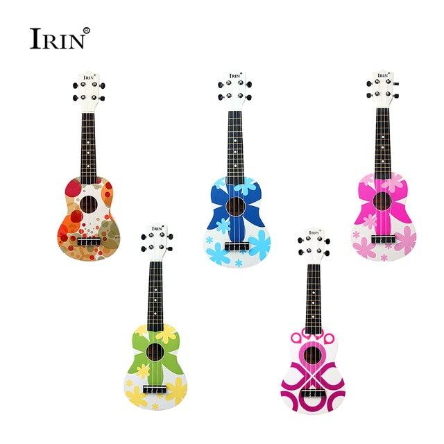 HOT Ukulele 4 Nylon Strings 21 Inch Ukelele Soprano Wooden 5 Styles Basswood Fingerboard Hawaii Acoustic Guitar Free Shipping