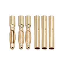 10 pair/lot Brushless Motor High Quality Banana Plug 2.0mm 2mm Gold Bullet Connector Plated For ESC Battery 24%Off