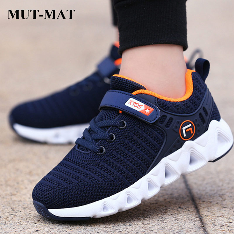 Kids Shoes Children's Shoes Autumn Non-slip Children Fly Weaving Sports Shoes Mesh Running Shoes Boys Wear-resistant Sneakers