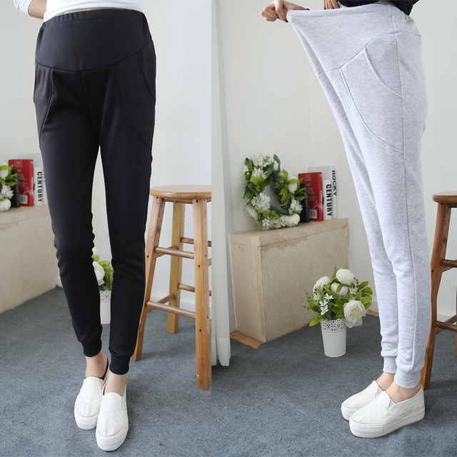 2016 pregnant women wild casual pencil pants new fashion harem pants care of pregnant women belly pants