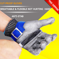 Safety Working Gloves Level 5 Cut proof Protective Gloves 304 Stainless Steel Preparation Anti stab Gloves with Lined Security