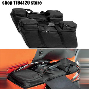 Hard Saddlebag Luggage Liners Tour Pack Soft Liner Bags For Harley Touring Electra Street Glide Road King 1993-2018(China)