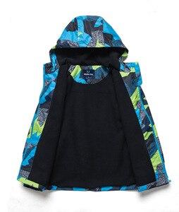 Image 3 - 2019 ילדים מעיל חם מעיל חורף ילדים בני גשם הלבשה עליונה ספורט הסווטשרט בגדי פעמיים סיפון עמיד למים ילד ילדה מעילים