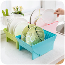 Kitchen dishes combination buckle fixed storage rack, drain dish rack shelving