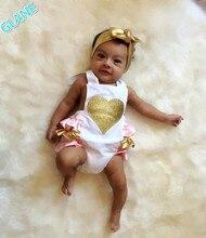 2016 Newborn Infant Baby Girl Lovely Cute Love Ruffle Romper font b Jumpsuit b font Backless