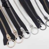Schließen-Ende 15-45 cm 5 #1 stücke weiß & schwarz gold silber Metall Zipper für Nähen zip Bekleidungs Zubehör Jeans Reißverschlüsse DIY werkzeuge reißverschluss