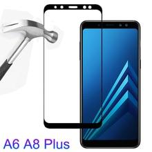 Закаленное стекло для samsung Galaxy A6 A8 A6Plus A8Plus A8 A6 Plus Защитная пленка для экрана