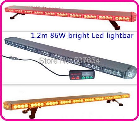 Higher star 120cm DC12V 86W <font><b>Led</b></font> emergency Lightbar,warning lightbar for police ambulance fire,15flash,waterproof