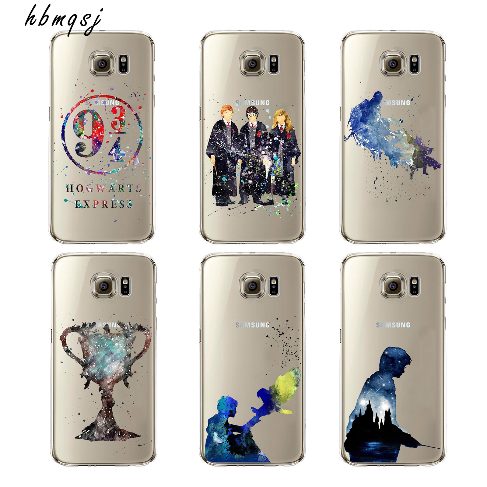 Cartoon for samsung galaxy s8 silicone soft tpu transparent case movie art painting Harry Potter magic wand pattern phone cover
