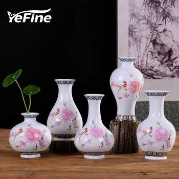 YeFine Porcelain Chinese Flower Vase Antique Blue And White Bone China Ceramic Vase For Home Decor Craft Articles Drop Shipping vase
