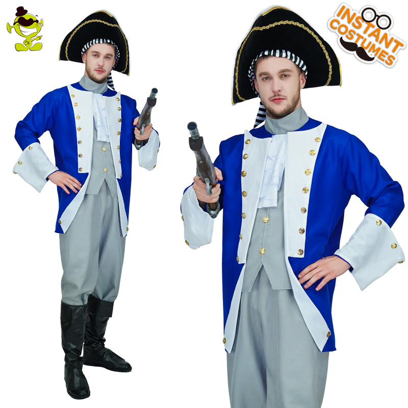 Men's Colonial General Costume Masquerade Superhero General Clothing Cosplay Hero General  Costumes