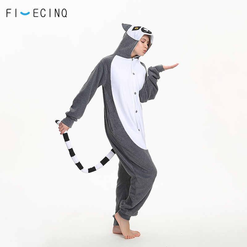 Лемур Catta костюм животного обезьяна Косплэй фантазии Kigurumi Забавные  милые Onesie Для женщин Для мужчин взрослых 1c17cb382cb6b