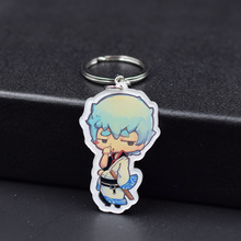 Gintama Keychain Sakata Gintoki 2 Styles Fashion Jewelry Key Chains Custom made Anime Key Ring FQ1