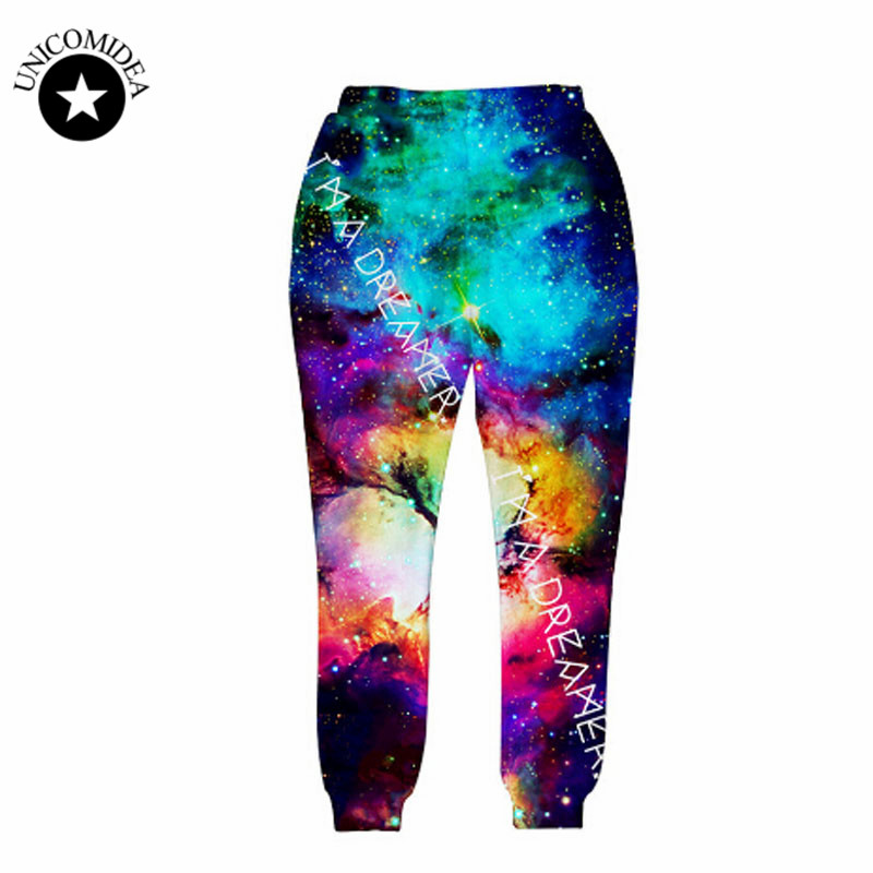 2017 new fashion sweat pants joggers pants 3D graphic print galaxy space sweatpants for men/women hip hop trousers