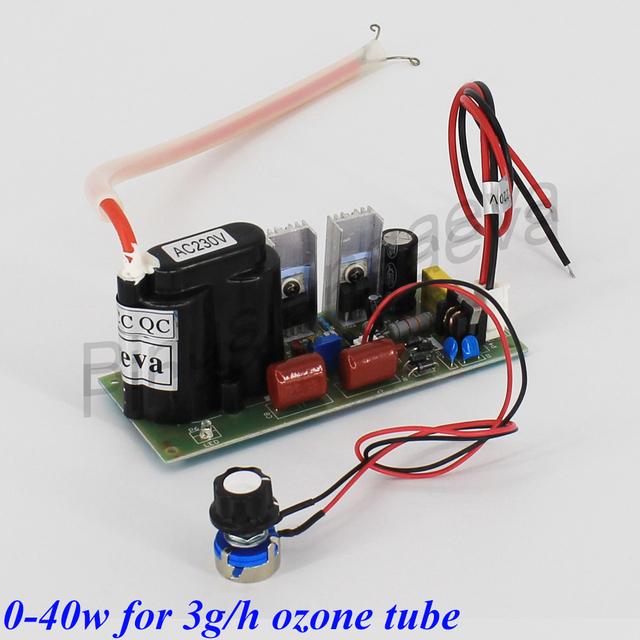 Pinuslongaeva 3G/H 3grams adjustable Quartz tube type ozone generator Kit medical ozone generator parts ozone water air purifier