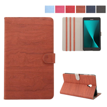 Fashion wood grain PU Leather Tablet Cover Case with Wake & Sleep Feature For Samsung Galaxy Tab A 8 inch  2017 T380 T385