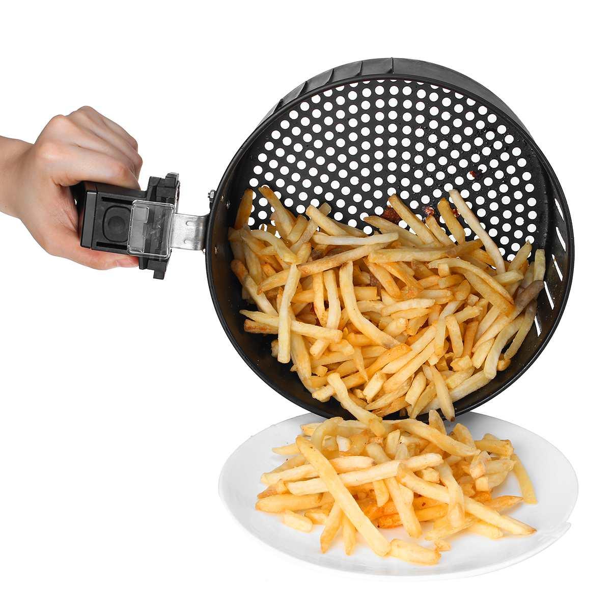 Friteuse à Air friteuse électrique 1400W écran tactile LED numérique minuterie de contrôle de température friteuse à Air électrique - 3