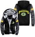 Newest Winter Unisex FOOT BALL all Green Bay Packer Zipper Jacket Sweatshirts Thicken Hoodie Coat Clothing Casual