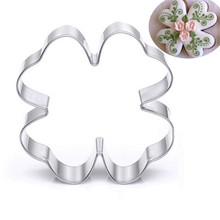 TTLIFE Lucky Four-leaf Clover Cookie Cutter Stainless Steel Biscuit Mold Fondant Cake Sugarcraft Decorating Tools Baking Moulds ttlife 3pcs geometry cookie cutter rectangle fondant cake biscuit mold sugarcraft decorating tools pastry dessert baking moulds