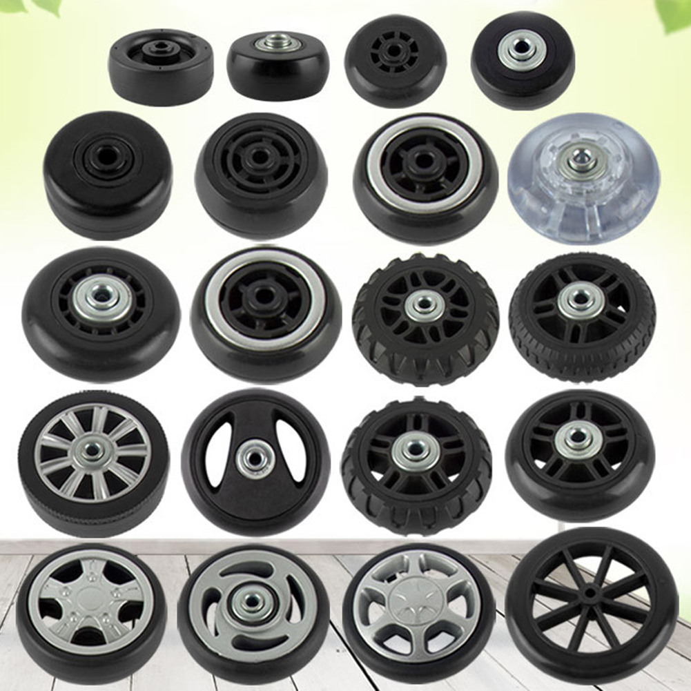 2 Sets Of Replacement Luggage Good Quality Rubber Luggage Wheels Axles Deluxe Repair Tool Casters Suitcase Wheel Different Size