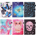 "Luxury 7"" Flower tablet pu Leather Flip Stand Tablet Book Cover Case For Samsung Galaxy Tab 4 Tab4 7.0 T230 T231 T235 SM-T230 #E"
