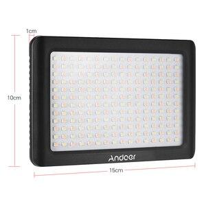 Image 3 - Andoer Mini Studio vidéo photographie LED panneau lumineux lampe 3200K/6000K 192 pièces perles pour Canon Nikon DSLR appareil photo DV caméscope