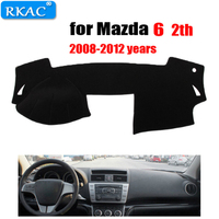 Car dashboard cover mat for Mazda 6 2th 2008-2012 years left hand drive dashmat pad dash mat covers auto dashboard accessories