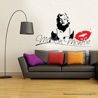 G240 Marilyn Monroe Kiss Wall Decal Stickers Decor Easy Removable Sticker Bedroom wall stickers decorative arts