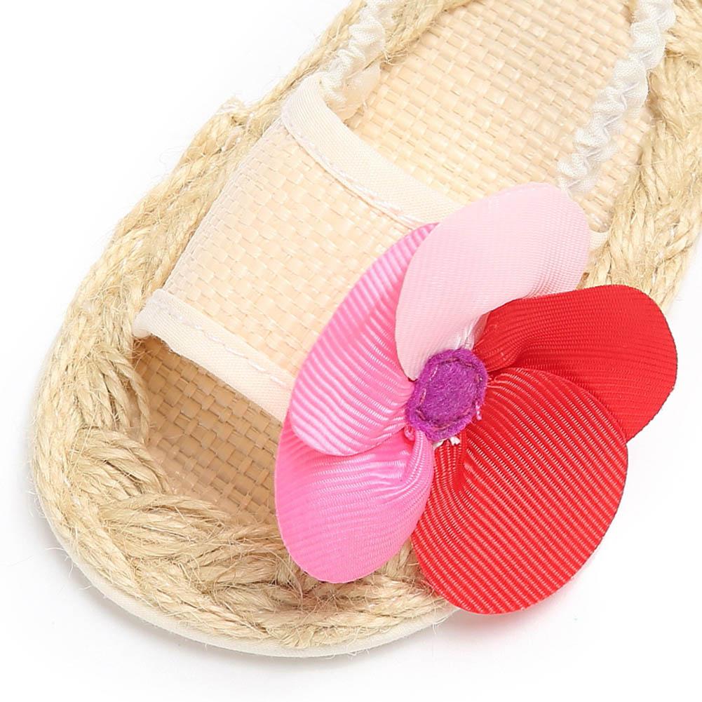Cute Flower Baby Mädchen Sandalen Newborn Weiche Strohflechte Schuhe ...