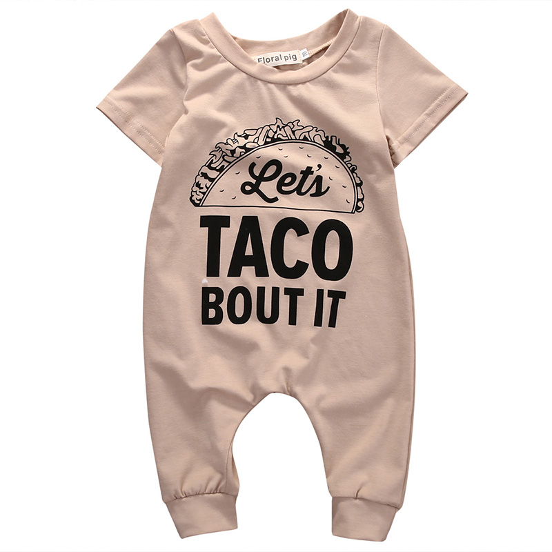 0-18M Newborn Infant Baby Boy Girl Short Sleeve Letter Print Cotton   Romper   Jumpsuit Outfits Baby Clothes