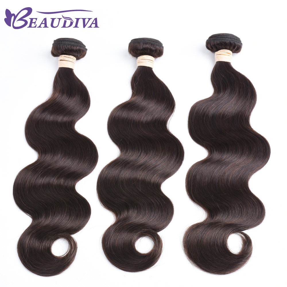 BEAU DIVA Hair Brazilian Body Wave Human Hair 3 Piece Hair Weave Bundles 8-26 inch 2# Color Free Shipping Non-Remy Hair