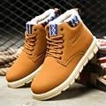 Homens botas de inverno quente botas casuais com pele tornozelo prova d' água botas adulto plus size neve botas Preto azul marrom moda marca