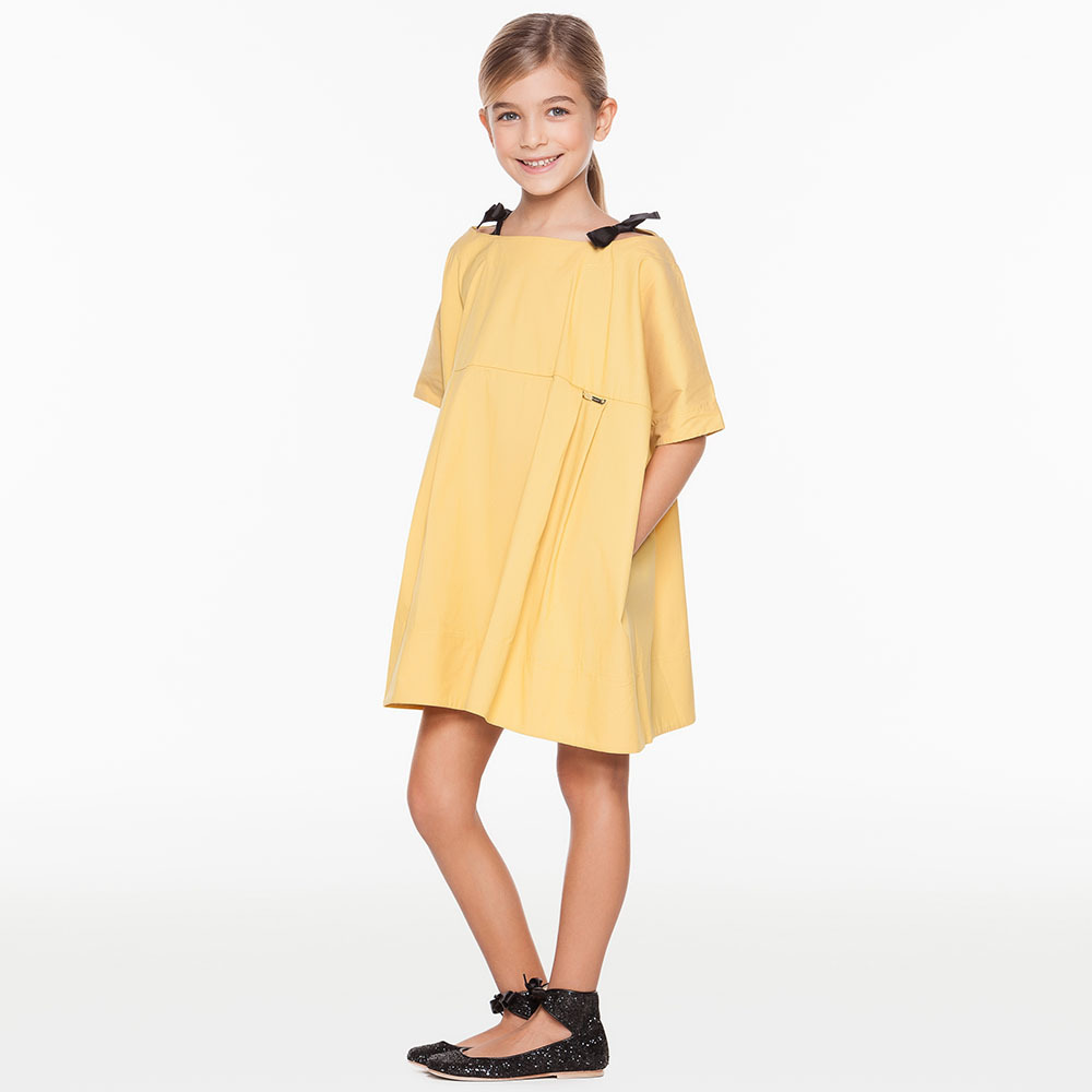 VYU Children Summer Autumn Casual Girl Princess Simply Top Quality Dress Lady Girl Birthday Party Dresses Kids Cotton Prom Dress