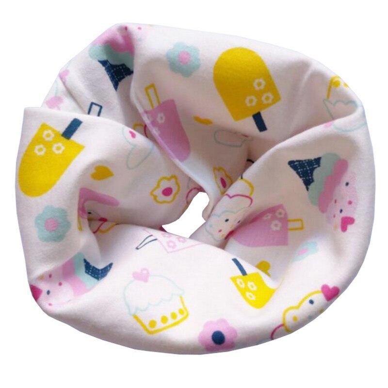 Новинка; Модный хлопковый шарф для маленьких девочек; осенне-зимний шарф для маленьких мальчиков; Детский шарф с круглым вырезом; Детские шарфы; волшебный шейный платок - Цвет: Pink Ice Cream